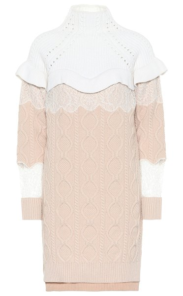 Fendi wool and cashmere sweater dress in pink