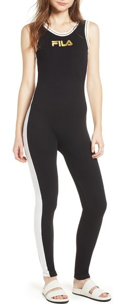 162850d15bf Fila ivory unitard in black  white - Highlight every curve while  accommodating every move in