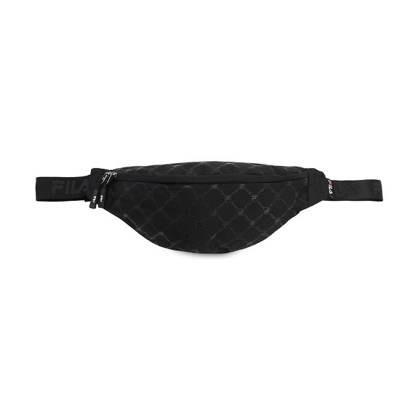 FILA URBAN Allover logo belt bag in black