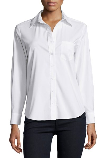Finley Alex Button-Front Blouse in white