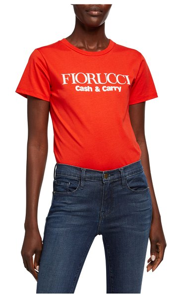 FIORUCCI Cash & Carry Logo Graphic Tee in red/orange
