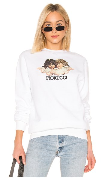 FIORUCCI vintage angels sweatshirt in white