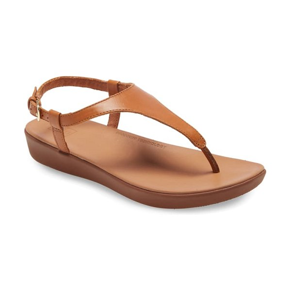 FitFlop lainey sandal in light tan leather
