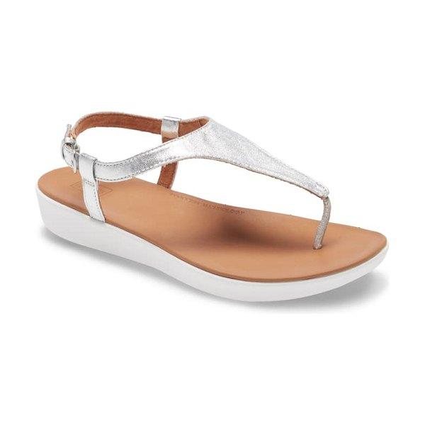 FitFlop lainey sandal in silver leather