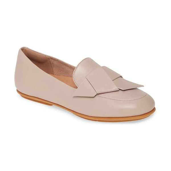 FitFlop lena knot loafer in mink leather