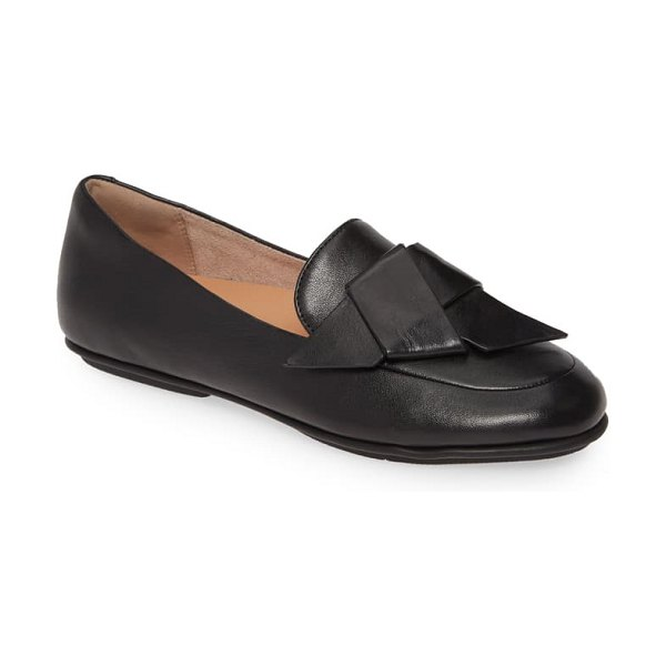 FitFlop lena knot loafer in all black leather