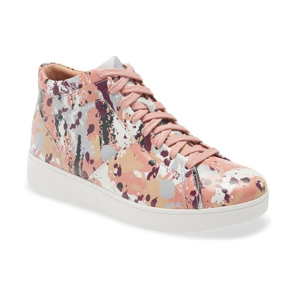 FitFlop rally high top sneaker in rose pink