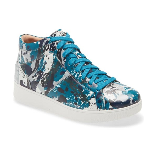 FitFlop rally high top sneaker in teal