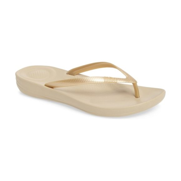FitFlop iqushion flip flop in gold