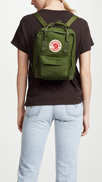 Fjallraven kanken mini backpack in leaf green