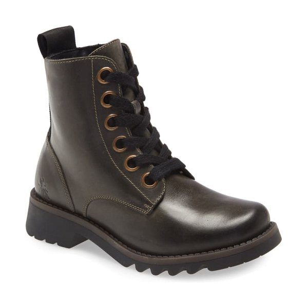 Fly London ragi combat boot in diesel leather