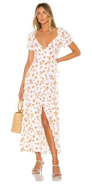 Flynn Skye annabelle wrap midi dress in perks of a daisy