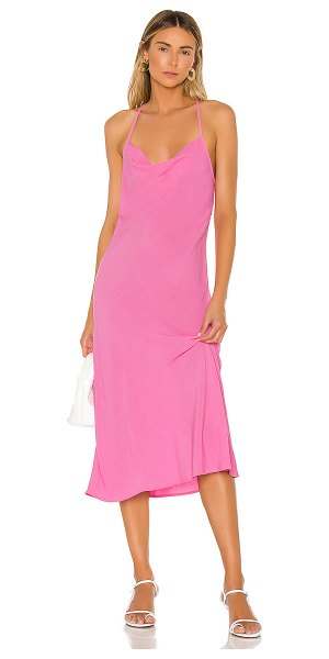 Flynn Skye lynn midi dress in peony pink