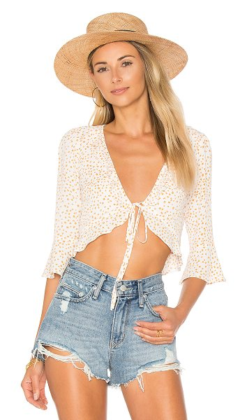 FOR LOVE & LEMONS Aurora Tie Top - Get yourself a good ol' southern girl. In a soft rayon...