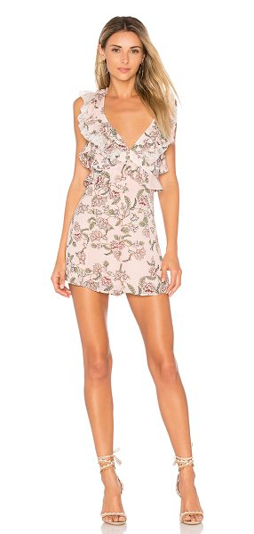 """For Love & Lemons Bee Balm Floral Romper in pink - """"On the highway to loving life. Wrapped in florals, the..."""