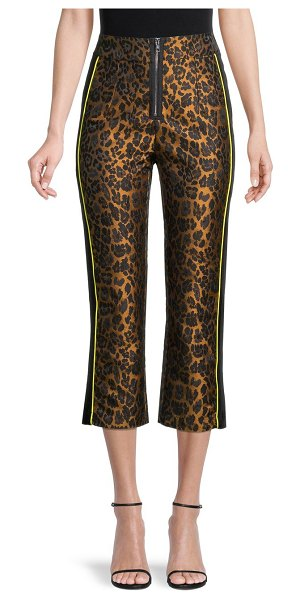 For Love & Lemons Leopard-Print Cropped Pants in leopard