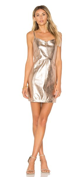 For Love & Lemons Luna Metallic Dress in metallic gold - Taking a chance with something new. Designed in a...