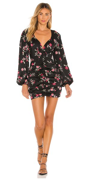 For Love & Lemons wyatt mini dress in black