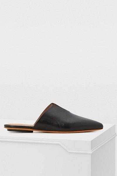 Forte Forte Flat leather mules in nero - Forte Forte's sophistication is based in its masterful...