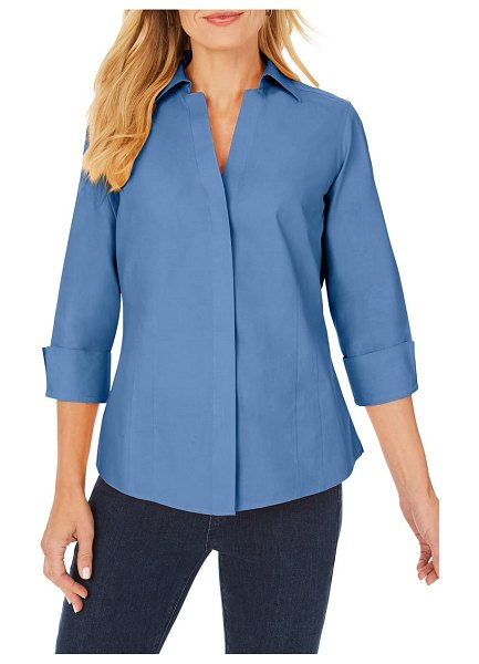 Foxcroft fitted non-iron shirt in alpine