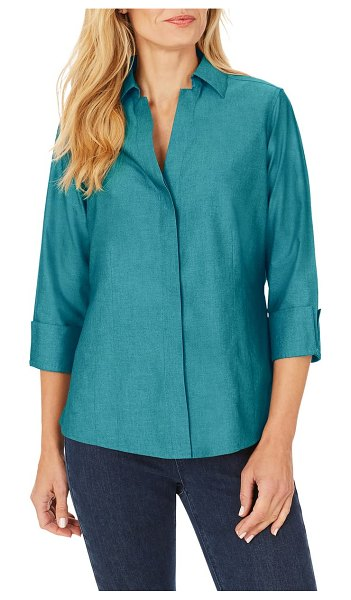 Foxcroft taylor fitted non-iron shirt in alpine