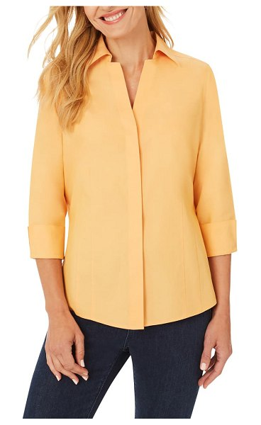 Foxcroft taylor fitted non-iron shirt in golden rod
