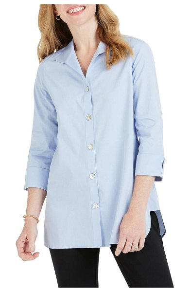 Foxcroft pandora non-iron cotton shirt in blue wave