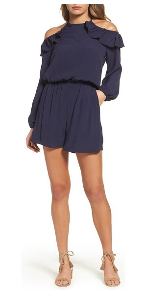 FRAICHE BY J cold shoulder romper - Fluttery ruffles drape off the cold shoulders of this...