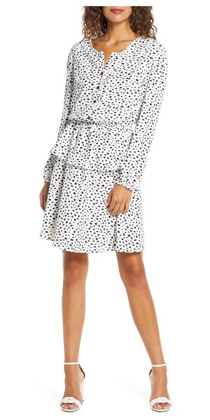 Fraiche by J dori long sleeve tiered dress in dori