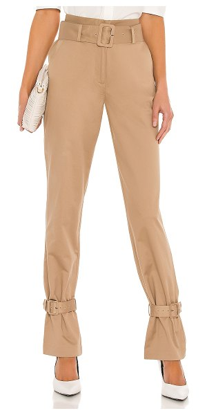 FRAME cinched trouser in dark sand