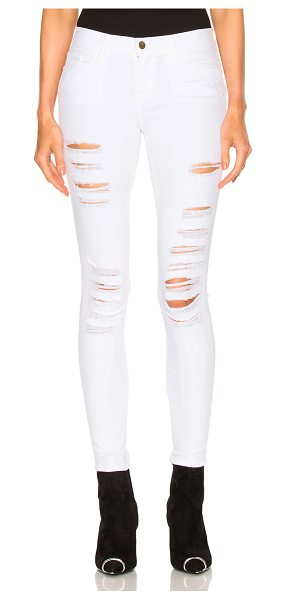 FRAME Denim Le Color Rip in white - 91.5% cotton 6% poly 2.5% lycra.  Made in USA.  Machine...