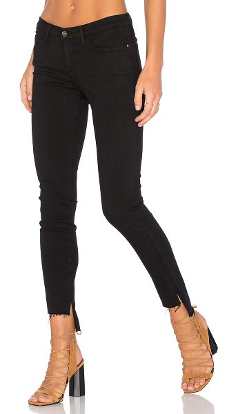 FRAME denim le skinny de jeanne unfinished hem in film noir