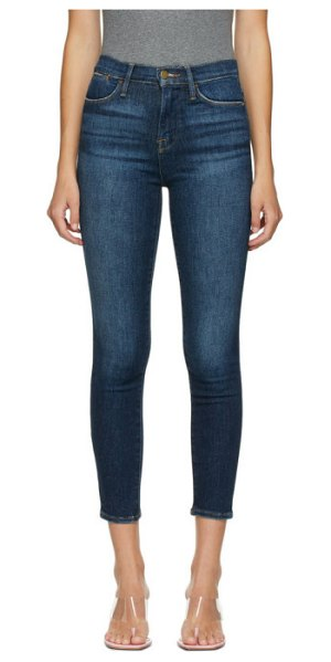 FRAME indigo cropped le high skinny jeans in allesandro