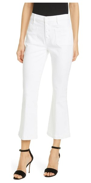 FRAME le bardot high waist crop flare jeans in blanc