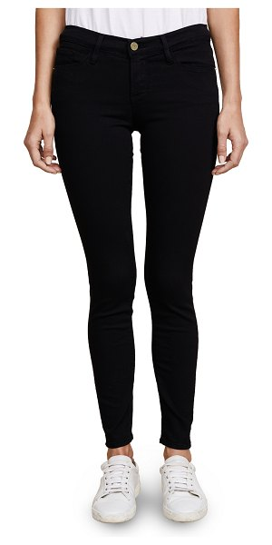 FRAME le color skinny jeans in film noir