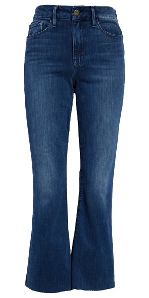 FRAME le crop high waist mini boot jeans in edgewater