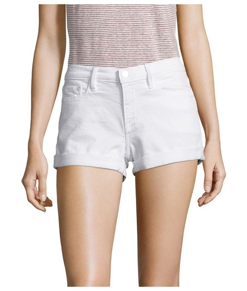 FRAME le cut off mid-rise denim shorts in white