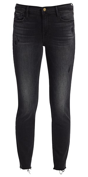 FRAME le garcon cropped raw edge jeans in jacqueline