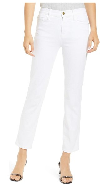 FRAME le high ankle straight leg jeans in blanc