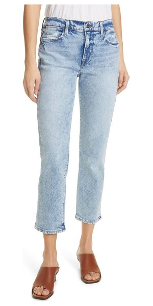 FRAME le high ankle straight leg jeans in lombard
