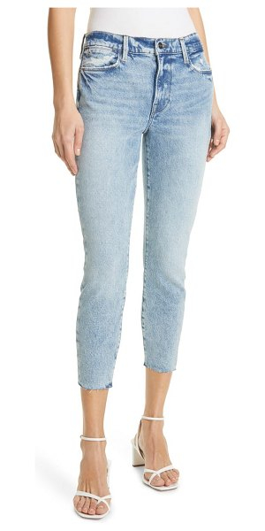 FRAME le high raw edge crop skinny jeans in lombard