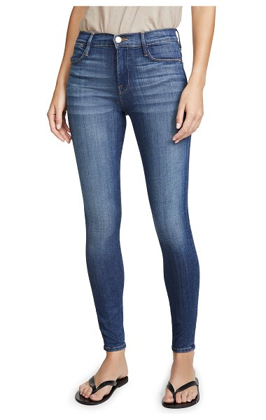 FRAME le high skinny jeans in cobain