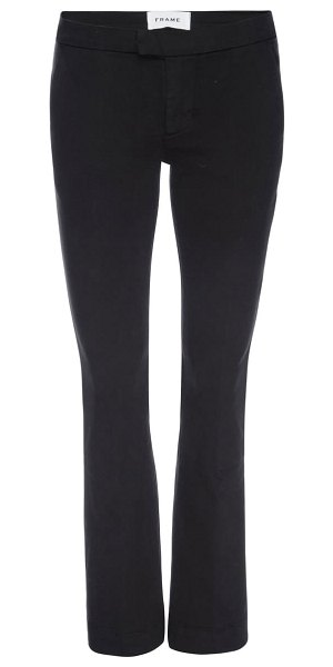 FRAME le pixie bootcut trousers in film noir