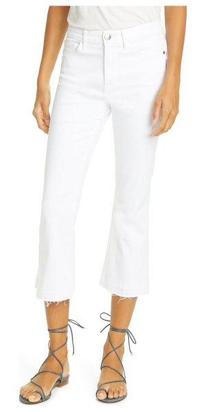 FRAME le pixie high waist crop flare jeans in blanc