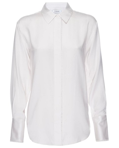 FRAME perfect washable silk shirt in blanc