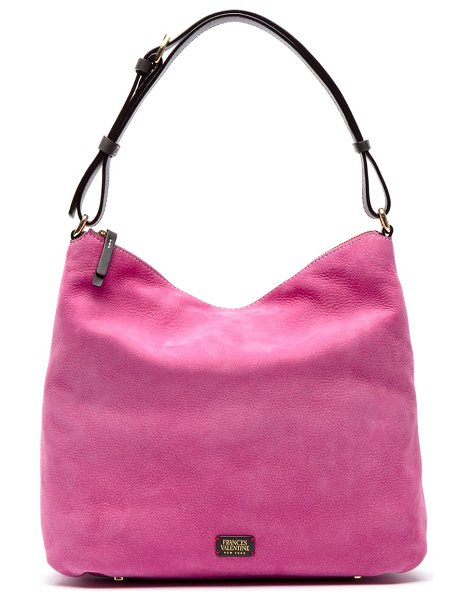 Frances Valentine leather tote in pink/ chocolate