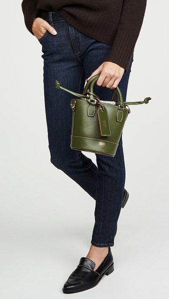 Frances Valentine small bucket bag in olive