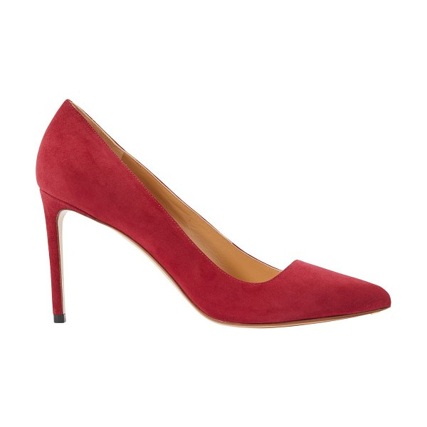Francesco Russo Leather pumps in pomegranate