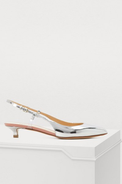 Francesco Russo Silver heels in silver - Francesco Russo continues to surprise with avant-garde...