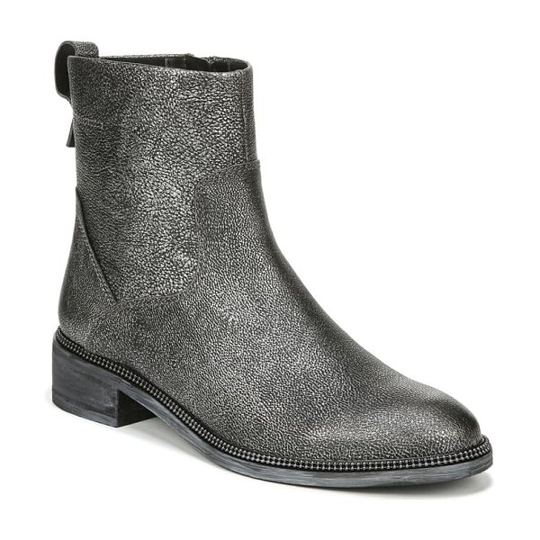 Franco Sarto brindle bootie in pewter leather